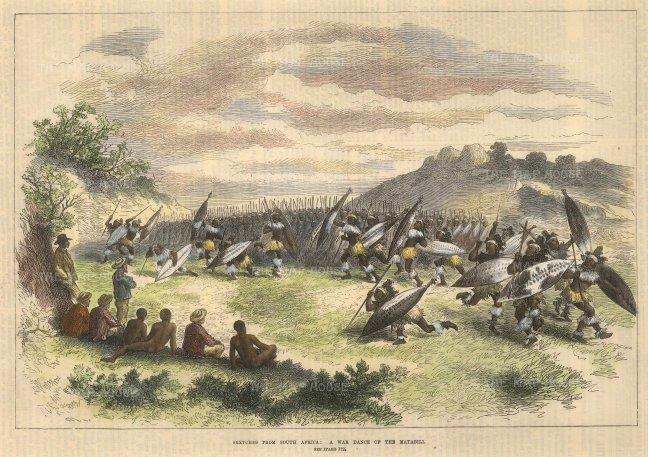 Sketch of a War dance.