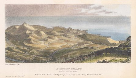 "Brandreth: Ascension Island. 1835. A hand coloured original antique lithograph. 8"" x 5"". [AFRp990]"