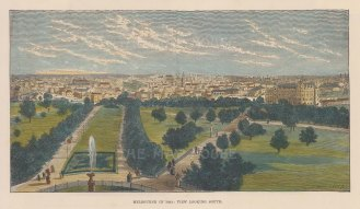 "Illustrated News: Melbourne. c1890. A hand coloured original antique wood engraving. 10"" x 6"". [AUSp598]"