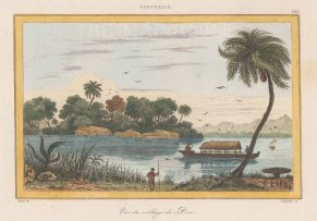 "de Rienzi: Shark Bay, Dorre Island. 1837. A hand coloured original antique steel engraving. 6"" x 4"". [AUSp755]"