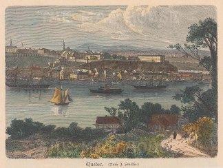 """Geiltbeck: Quebec. 1897. A hand coloured original antique wood engraving. 5"""" x 4"""". [CANp595]"""