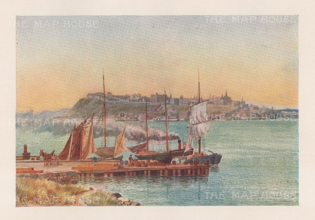 "Mover Martin: Port Nevis, Quebec. 1907. An original antique chromolithograph. 6"" x 5"". [CANp662]"