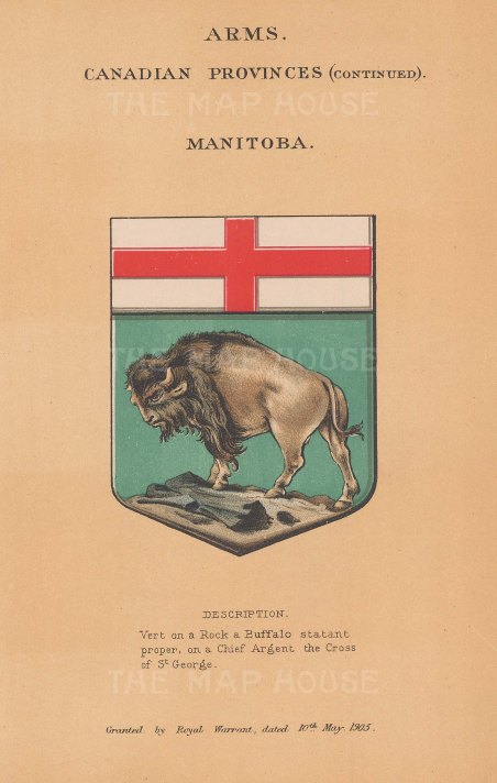 Province of Manitoba. Arms for the territory with description below.