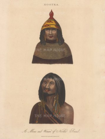 Portraits of a man and woman of Nootka (St George's) Sound.