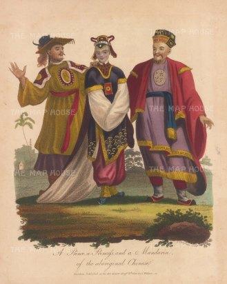 Portraits: A prince, princess and Mandarin.