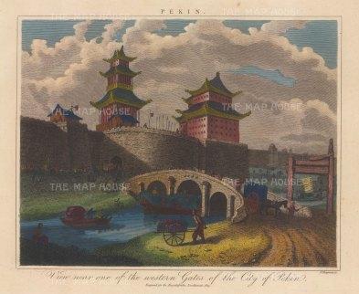 "Wilkes: Beijing (Peking). 1823. An hand coloured original antique copper engraving. 11"" x 8"". [CHNp1153]"