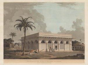 Delhi: Mausoleum of Amir Khusero (Chaunsath Kambha) is actually the tomb of Mirza Aziz Koka, son of Ataga Khan.