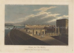 "Sharwood Jones & Co.: Kolkata. 1820. A hand coloured original antique steel engraving. 9"" x 7"". [INDp1333]"