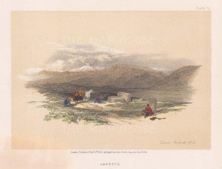 Sarepta: View of the Phonecian ruins between Ras al Qantaea and the Mausoleum of Khodr Abu Abbas near to Sarafand,