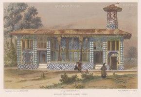 "de Hell: Amol, Iran. 1853. A hand coloured original antique lithograph. 12"" x 8"". [MEASTp1404]"