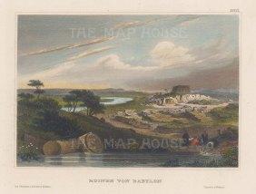 "Meyer: Babylon, Iraq. 1840. A hand coloured original antique steel engraving. 6"" x 4"". [MEASTp1466]"