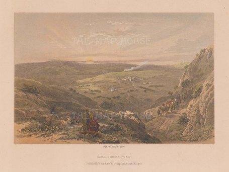 "Roberts: Cana. 1861. An original colour antique lithograph. 8"" x 5"". [MEASTp1522]"