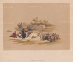 "Roberts: Cana. 1839. A hand coloured original antique lithograph. 15"" x 13"". [MEASTp1531]"
