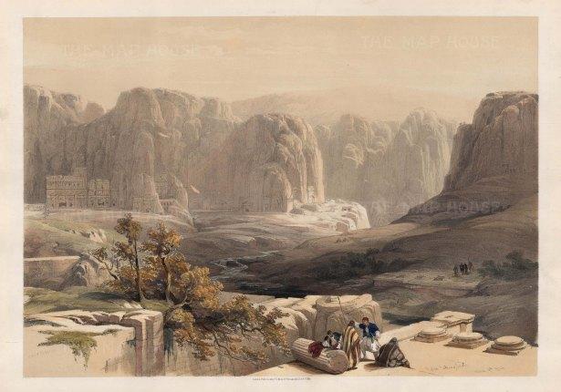 Petra: Looking south toward the main site on Jebel al-Madhbah.