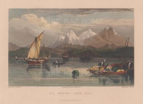 Al Whaj: View from the port on the Red Sea towards the Tihami range of the Sarawat mountains.