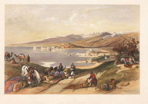 Sidon (Sayda): Panoramic view from the hills towards Lebanon.