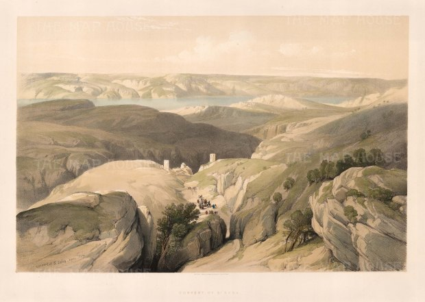 Convent of St Sabba overlooking the Kidron Valley,