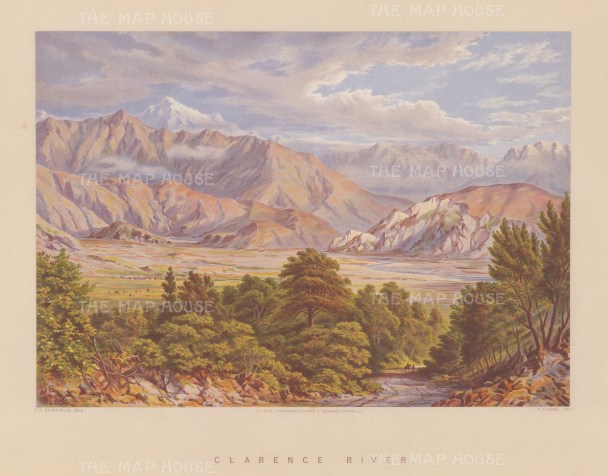Waiau Toa River (Clarence River). Showing the highest point of the Kaikoura Ranges.