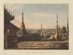 Rangoon (Yangon): Looking South from the Eastern Road towards the Rangoon River.