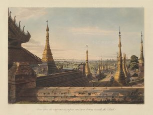 Rangoon (Yangon): Looking South from the Eastern Road towards the Rangoon River.