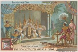 "Liebig's Extract: Evening entertainment. c1910. An original antique chromolithograph. 4"" x 3"". [SEASp1616]"