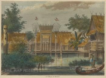 "Weller: Borneo. 1863. A hand coloured original antique wood engraving. 6"" x 3"". [SEASp1622]"