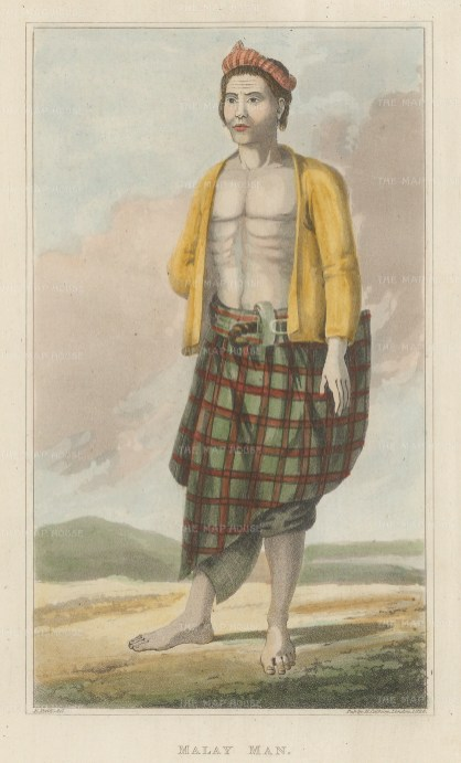 Malay man in traditional dress.