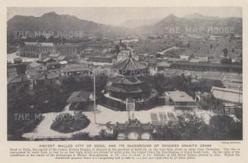 "Galloway: Seoul, Korea. c1920. An original antique photo-lithograph. 8"" x 5"". [SEASp1713]"