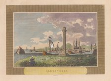 "Sparrow: Alexandria. c1820. A hand coloured original antique copper engraving. 8"" x 6"". [EGYp1099]"
