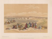 "Roberts: Suez. c1875. A hand coloured original antique lithograph. 8"" x 5"". [EGYp887]"