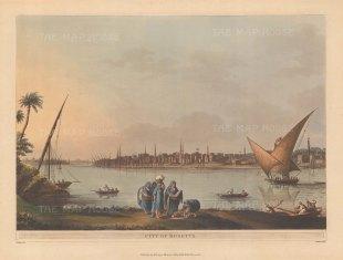 "Mayer: Rosetta. 1802. An original colour antique aquatint. 14"" x 10"". [EGYp955]"