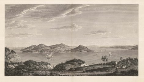 Islands of the Princes (Kızıl Adalar): Panorama of the archipelago of nine islands in the Sea of Marmara off the coast. The islands served as an exile for royals for both the Byzantine and Ottoman Empires.