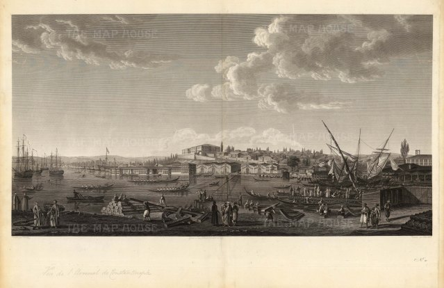 Tophana: Panorama of the artillery arsenal and canon foundry destroyed by fire in 1823.