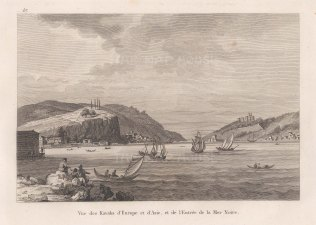 Castle of Europe and Castle of Asia (Rumelihisarı and Anadoluhisarı). Entrance to the Black Sea.