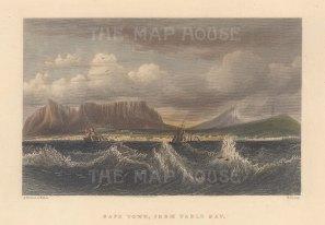 "Fullarton: Cape Town. 1856. A hand coloured original antique steel engraving. 5"" x 4"". [AFRp1436]"
