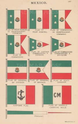 Naval and Military Flags.