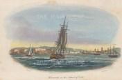 """Gold: Havana, Cuba. 1817. A hand coloured original antique aquatint. 9"""" x 5"""". [WINDp1144]"""