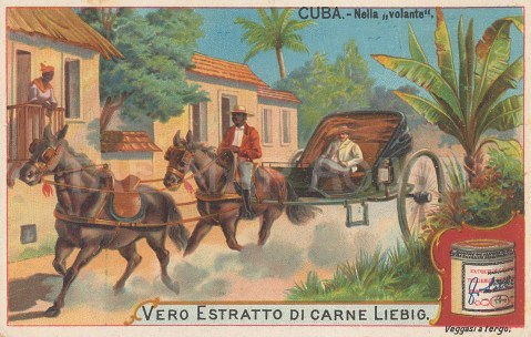 "Liebig's Extract: Havana, Cuba. 1899. An original antique chromolithograph. 4"" x 3"". [WINDp1209]"