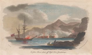 Guadaloupe: Basse-Terre. Sir John Moore's successful attack on the French during the Seven Year's War.