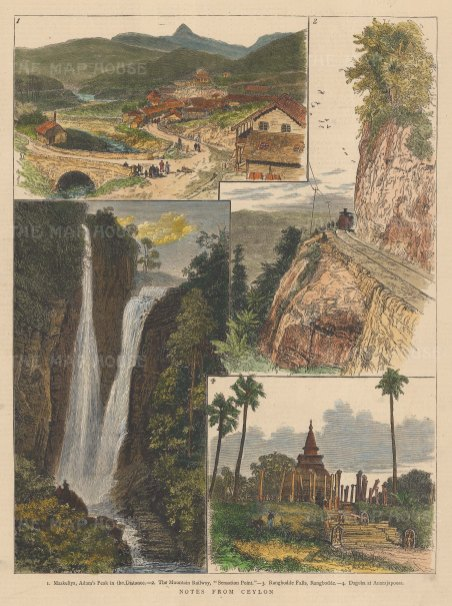 Adam's Peak (Sri Pada): With views of the railway, Rangboda Falls and Dagoba at Anarajoopora.