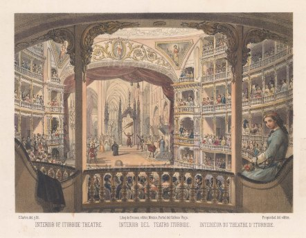 Mexico City: Interior of Iturbide Theatre.