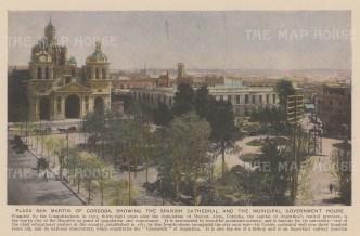 "Anonymous: Cordoba, Argentina. c1930. An original vintage photo-lithograph. 7"" x 5"". [SAMp1418]"