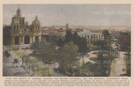 "Anonymous: Cordoba, Argentina. c1930. An original vintage photo-lithograph. 7"" x 5"". [SAMp1418]"