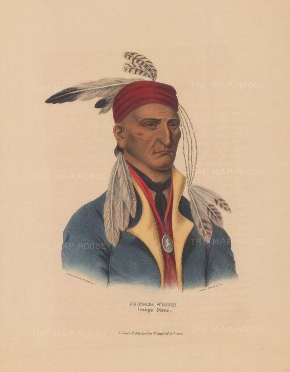 Chief Shingaba W'ossin (Image Stone) of the Objibwa. Enlisted with the British in the War of 1812.