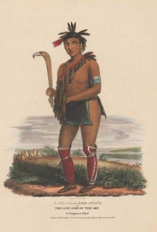 Nabu-Naa-Kee-Shick or One Side of the Sky: A Chippewa Chief.