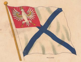 "BDV Cigarettes: Poland. c1910. Original printed colour on silk. 6"" x 4"". [ARMp164]"