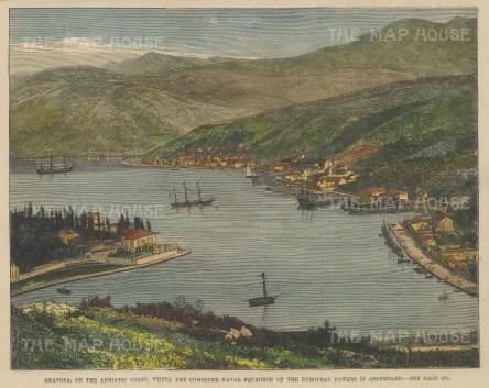 Bird's eye view of the port of Gruz (Gravosa).