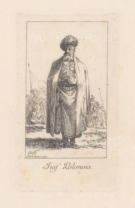 """Le Prince: Poland. 1768. An original antique copper engraving. 2"""" x 3"""". [CEUp532]"""