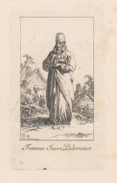 """Le Prince: Poland. 1768. An original antique copper engraving. 2"""" x 3"""". [CEUp533]"""
