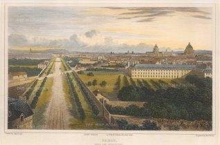 "Lieut. Col. Batty: Paris. 1821. A hand coloured original antique steel engraving. 9"" x 6"". [FRp1616]"